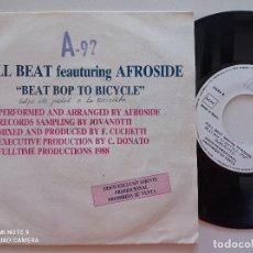 Discos de vinilo: FULL BEAT FEAT AFROSIDE - BEAT BOP TO BICICLE - SINGLE PROMO DJ CONNECTION 1988. Lote 248183580