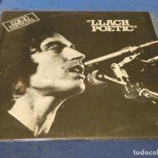 Discos de vinilo: EXPRO LP LLUIS LLACH POETIC 1976 MUY BUEN ESTADO GENERAL. Lote 248203810