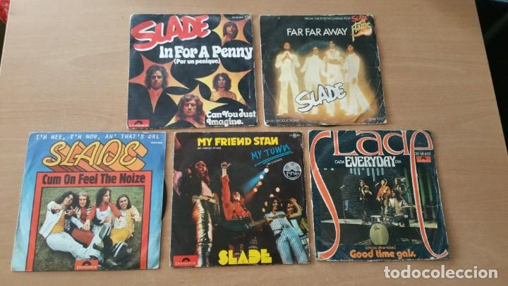 5 SINGLES VINILO SLADE IN FOR A PENNY FAR AWAY HEAVY (Música - Discos - Singles Vinilo - Heavy - Metal)