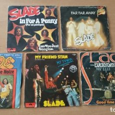Discos de vinilo: 5 SINGLES VINILO SLADE IN FOR A PENNY FAR AWAY HEAVY. Lote 248212570