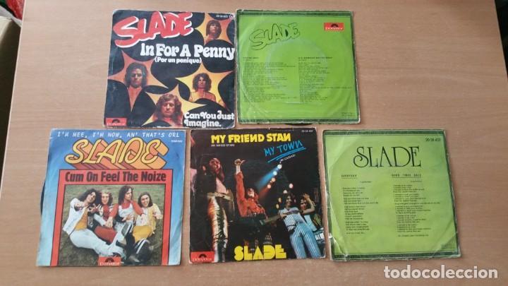 Discos de vinilo: 5 singles vinilo SLADE in for a penny far away Heavy - Foto 2 - 248212570