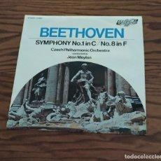 Discos de vinilo: DISCO LP DE VINILO (UK) BEETHOVEN SYMPHONY 1 IN C, 8 IN F, SINFONÍA CZECH PHILHARMONIC ORCHESTRA. Lote 248250535