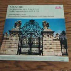 Discos de vinilo: DISCO LP DE VINILO (UK) MOZART SYMPHONY 39 IN E, VIOLÍN CONCERTO 4 EN D. SINFONÍA Y CONCIERTO. Lote 248255145