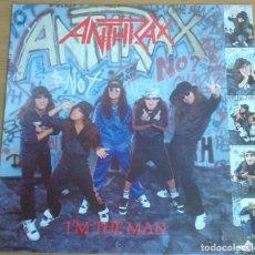 Disques de vinyle: ANTHRAX - I'M THE MAN VINILO 1987. Lote 248288255