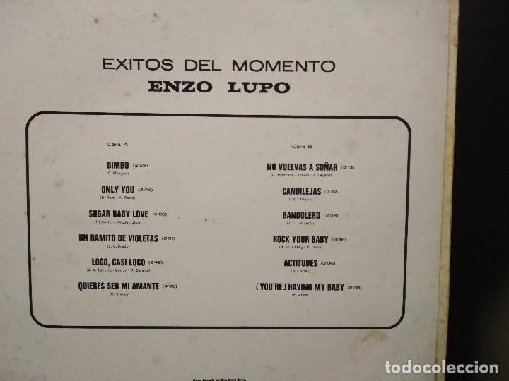 Discos de vinilo: LP ENZO LUPO - ÉXITOS DEL MOMENTO. - BELTER - (1975) PEPETO - Foto 2 - 248290570