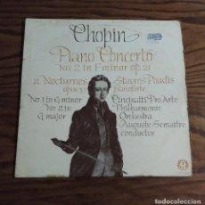 Discos de vinilo: DISCO LP DE VINILO (UK) CHOPIN PIANO CONCERTO 2 IN F MINOR OP 21 (CONCIERTO 2 EN F MENOR). Lote 248291280