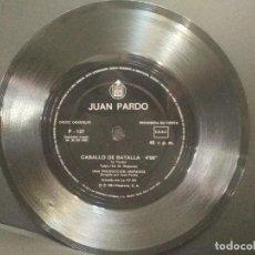 Discos de vinilo: JUAN PARDO.- CABALLO DE BATALLA.- SINGLE FLEXO 1983.PEPETO. Lote 248299660