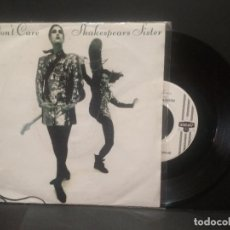 Discos de vinilo: SHAKESPEARS SISTER - I DON'T CARE - SINGLE LONDON ALEMANIA 1992 PEPETO. Lote 248303795
