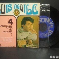 Discos de vinilo: LUIS AGUILE - EP. 4 CANCIONES PARA EL VERANO. AÑO 1.967. EDITADO POR SONOPLAY PEPETO. Lote 248304425
