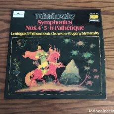 Discos de vinilo: DISCO DOBLE LP DE VINILO (UK) 1974 TCHAIKOVSKY SINFONÍAS 4, 5 Y 6 PATÉTICA. Lote 248306310