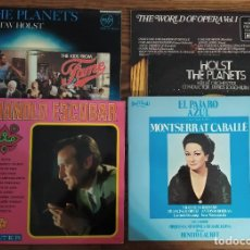 Discos de vinilo: LOTE 6 DISCOS LP DE VINILO: MANOLO ESCOBAR, FAMA, MONTSERRAT CABALLÉ, HOLST THE PLANETS, OPERA. Lote 248308845