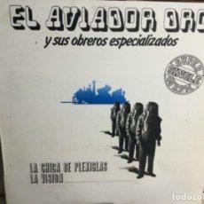 Discos de vinilo: AVIADOR DRO - LA CHICA DE PLEXIGLAS / LA VISIÓN, MAXI-SINGLE 1983. Lote 248363570