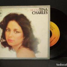 Discos de vinilo: TINA CHARLES - DR. LOVE - UN BESO PARA SIEMPRE - SINGLE CBS 1977 PEPETO. Lote 248423470