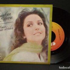 Discos de vinilo: SINGLE . ANGÉLICA MARÍA. AMOR NO ME OLVIDES. , VUELA PALOMA CBS 1976 PEPETO. Lote 248431425