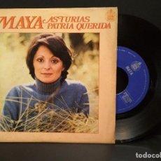Discos de vinilo: MAYA - ASTURIAS PATRIA QUERIDA MORENITA DE MI ALMA - SINGLE HISPAVOX 1978 PEPETO. Lote 248431715