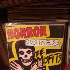 Disques de vinyle: MISFITS / HORROR BUSINESS / NOT ON LABEL. Lote 248443365
