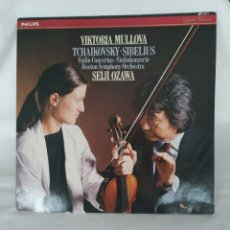 Discos de vinilo: VIKTORIA MULOVA, SIBELIUS VIOLIN CONCERTO,SEIJI OZAWA VINILO EN MUY BUEN ESTADO. Lote 248481645