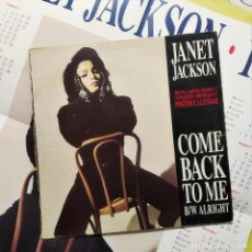 Discos de vinilo: JANET JACKSON - COME BACK TO ME/ALRIGHT, UK 1990,ED. LIMITADA CON POSTER (VG+_VG+). Lote 248485360