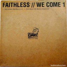 Discos de vinilo: FAITHLESS, WE COME 1, UK 2001, PROMO, CHEEKY RECORDS CHEEKY002A, EXCELENTE ESTADO (EX_EX). Lote 248488145