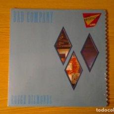 Discos de vinilo: BAD COMPANY -ROUGH DIAMONDS- LP SWAN SONG 1982 ED. ORIGINAL AMERICANA SS 59 419 MUY BUENAS CONDICION. Lote 248492965