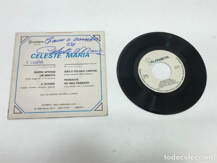 Discos de vinilo: SINGLE CELESTE MARIA FIRMADO AUTOR ALF-018 AÑO 1970 - Foto 2 - 248498275