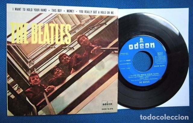 BEATLES SINGLE EP EDITADO POR EMI ODEON ESPAÑA ORIGINAL EPOCA 1964 MUY BUENA CONSERVACION (Música - Discos de Vinilo - Maxi Singles - Pop - Rock Internacional de los 50 y 60)