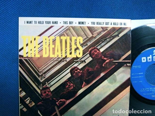 Discos de vinilo: BEATLES SINGLE EP EDITADO POR EMI ODEON ESPAÑA ORIGINAL EPOCA 1964 MUY BUENA CONSERVACION - Foto 2 - 248500340