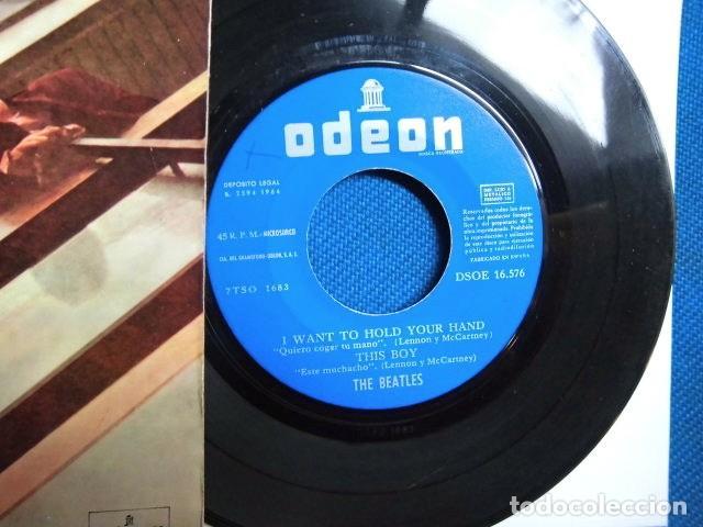 Discos de vinilo: BEATLES SINGLE EP EDITADO POR EMI ODEON ESPAÑA ORIGINAL EPOCA 1964 MUY BUENA CONSERVACION - Foto 4 - 248500340