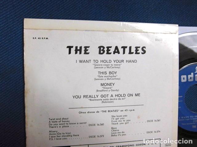 Discos de vinilo: BEATLES SINGLE EP EDITADO POR EMI ODEON ESPAÑA ORIGINAL EPOCA 1964 MUY BUENA CONSERVACION - Foto 5 - 248500340