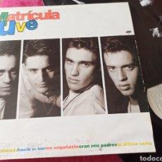 Discos de vinilo: MATRICULA UVE ÍDEM LP 1992. Lote 248501195