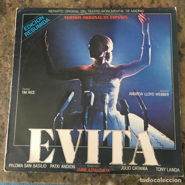 ANDREW LLOYD WEBBER - EVITA (VERSION ORIGINAL EN ESPAÑOL) . LP . 1991 (Música - Discos - LP Vinilo - Bandas Sonoras y Música de Actores )