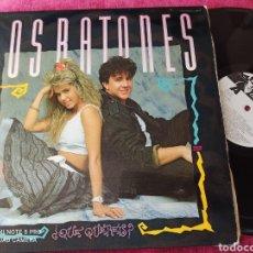 Discos de vinilo: LOS RATONES ¿QUE QUERÉIS? LP 1988. Lote 248522150