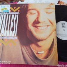Discos de vinilo: PAOLO VALLESI - LA FUERZA DE LA VIDA 1992 LP. Lote 248555935