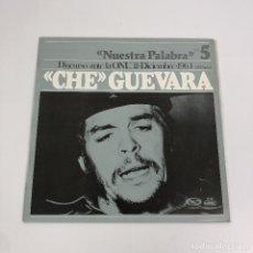 """Discos de vinilo: LP - DISCURSO """"CHE"""" GUEVARA ANTE LA ONU, 11 DICIEMBRE, 1964 (1A PARTE). Lote 248569575"""