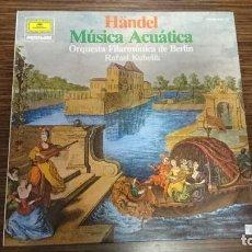 """Discos de vinilo: LP HANDEL """"MUSICA ACUATICA"""". Lote 248584500"""