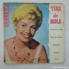 Discos de vinilo: TINA DE MOLA - DONDE VA LA SUERTE / DAMA DE CORAZONES / ARRIVEDERCI / UN POCO - SPAIN EP BELTER 1959. Lote 248604865