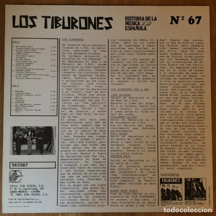 Discos de vinilo: LOS TIBURONES - LP - Foto 2 - 248607185