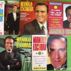 Discos de vinilo: LOTE DE 5 EPS DE MANOLO ESCOBAR. Lote 248626710