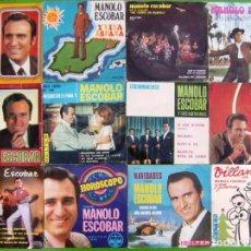 Discos de vinilo: LOTE DE 12 SINGLES Y EP DE MANOLO ESCOBAR. Lote 248627455