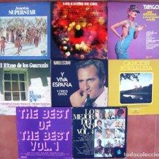 Discos de vinilo: LOTE 8 LPS (MANOLO ESCOBAR, TANGOS, LO MEJOR DEL AÑO, JESUCRISTO SUPERSTAR, ÉXITOS CBS, C BURGALESA). Lote 248629385