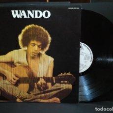 Discos de vinilo: WANDO. LP WANDO...DEUS NO CEU E SAMBA EDICION ESPAÑOLA 1977 CARNABY PROMO PEPETO. Lote 248632330
