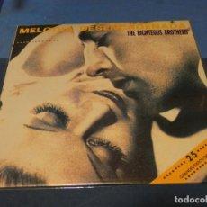 Discos de vinilo: EXPRO LP THE RIGHTEOUS BROTHERS MELODIA DESENCADENADA 1990 MUY BUEN ESTADO. Lote 248674200