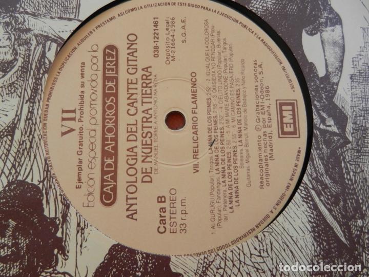 Discos de vinilo: ANTOLOGÍA DEL CANTE GITANO DE NUESTRA TIERRA-MANUEL TORRE A ANTONIO MAIRENA - JUAN VALDES - 7 LPS .. - Foto 18 - 248687640
