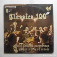 Discos de vinilo: LP DOBLE - CLASSICS 100 - WORLD FAMOUS ORCHESTRAS - K-TEL INTERNATIONAL - 1973. Lote 248693910