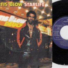 Discos de vinilo: KURTIS BLOW - STARLIFE - SINGLE DE VINILO EDICION ESPAÑOLA RAP HIP HOP OLD SKOOL. Lote 248696310
