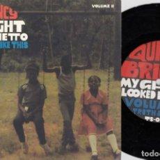 Discos de vinilo: QUINCY - BRIGHT MY GHETTO VOL II - SINGLE DE VINILO EDICION U.S.A. 33 RPM RAP HIP HOP. Lote 248697490