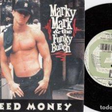 Discos de vinilo: MARKY MARK ¬ THE FUNKY BUNCH - I NEED MMONEY - SINGLE DE VINILO RAP HIP HOP. Lote 248698040