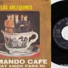 Discos de vinilo: LOS ARLEQUINES - TOMANDO CAFE - SINGLE DE VINILO - FREAKBEAT MOD PEPE ROBLES. Lote 248699160