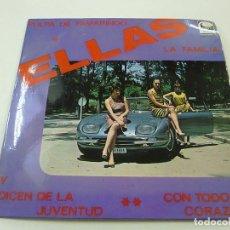 Discos de vinilo: ELLAS - Y DICEN DE LA JUVENTUD + 3 - MUY RARO EP PROMO CEM 1007 AÑO 1967 -N. Lote 248715180