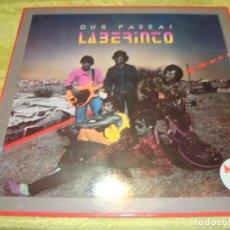 Discos de vinilo: LABERINTO. QUE PASSA ¡. RCA, 1983. MAXI-SINGLE. PROMOCIONAL CON INSERT PUBLICITARIO. IMPECABLE (#). Lote 248775330